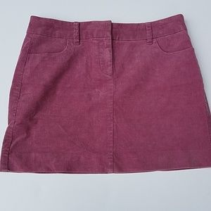 J crew corduroy mauve skirt 6 spring